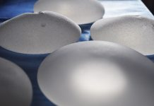 Image showing breast implants for breast reduction and enlargement surgery